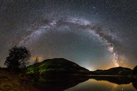 Paisagem da Via Láctea Foto de archivo