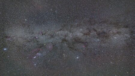 Part of the Milky way galaxy taken on the winter sky from Romania