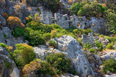 ancients: Rruins of the ancient town Kekova The ancients of  Lycia  The ancient civilization of Lycia