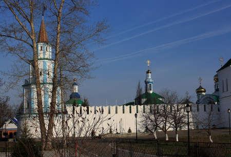 monastery: Monastery Raifskiy Monastery Orthodox Raifskiy exists in Russia, in Tatria. That is ancient monastery. Stock Photo