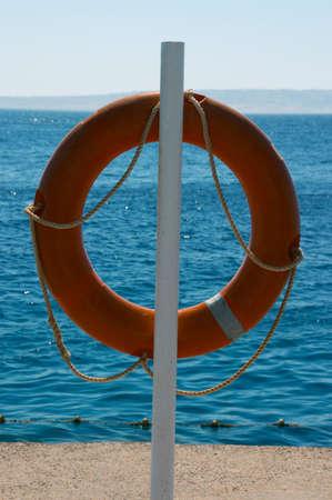 Life Buoy Weighing on coast near the sea