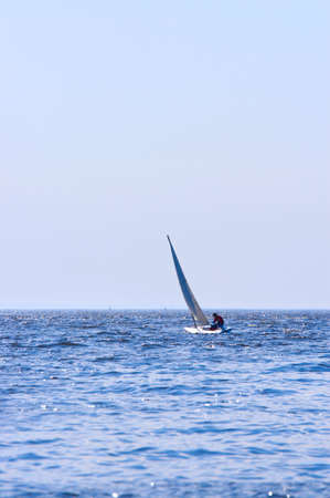 Regatta of sailing boats on the sea in solar windy day Stock Photo - 2993213