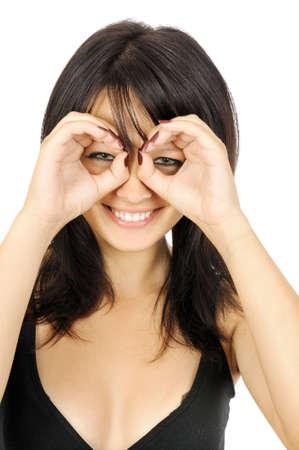 Hand binoculars, isolated on white Stock Photo - 3546590