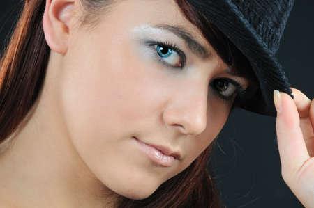 glamour girl on black background photo