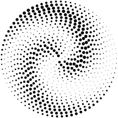 Circle abstract dotted vector background  イラスト・ベクター素材