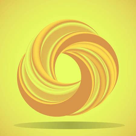 tore: Abstract geometric shape with torus-like figure
