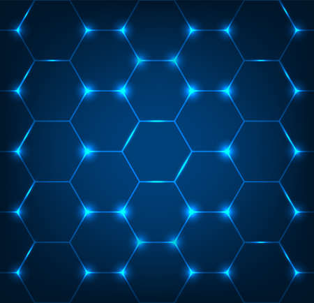 Contexte avec texture hexagonale bleue