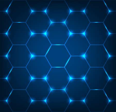 Hintergrund mit blauer Hexagonbeschaffenheit