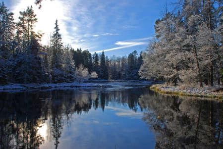 Winter river landscape Stock Photo - 3466386