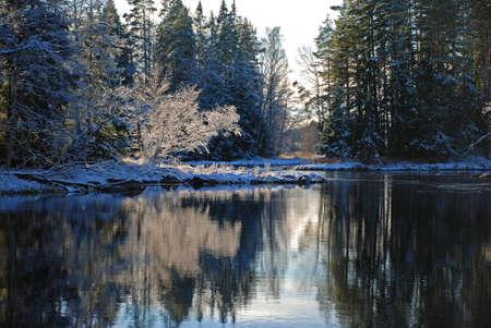 Winter river landscape Stock Photo - 3466387