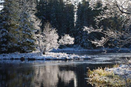 Winter river landscape Stock Photo - 3466389