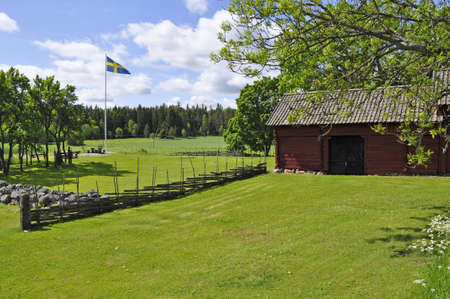 midsummer: Landscape in sweden in a Midsummer day.