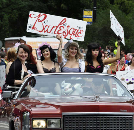 Stockholm, Sweden, August, 1, 2009: Participants take part in pride parade. Stock Photo - 6886924