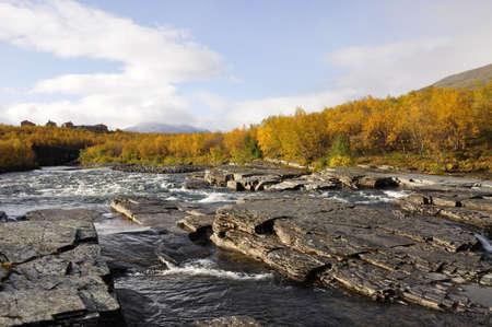 remoteness: Abisko national-park in autumn Stock Photo