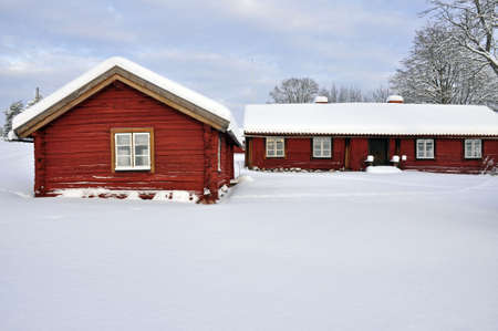 Wintry cottages photo