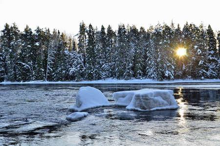 landsape: River landsape in midwinter light