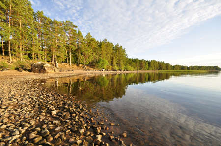 Beautiful sunset beach in Sweden photo
