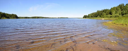 lake in summertime  Nature landscape photo