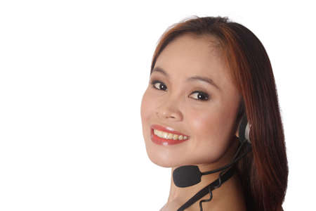 Woman at customer support Stock Photo - 3923673