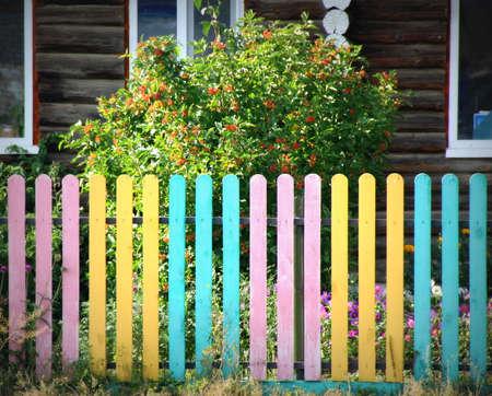 Bright fence Stock Photo