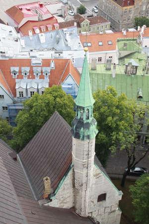 castles needle: Green spire Stock Photo