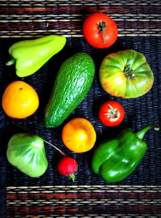 dashing: bright vegetables Stock Photo