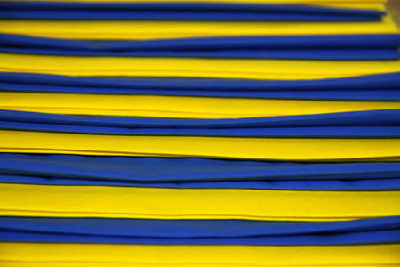Yellow and blue stripes Stock Photo