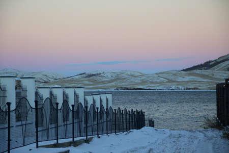 winter beach Stock Photo