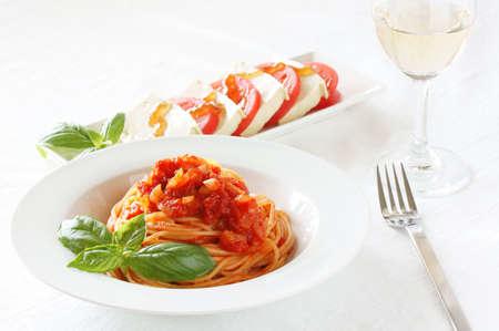 トマトソースのスパゲッティ 写真素材