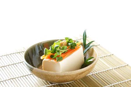 日本食豆腐の冷や奴と呼ばれる 写真素材