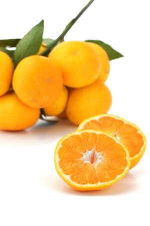 みかん;薩摩;テレビのオレンジ;日本語のオレンジ 写真素材