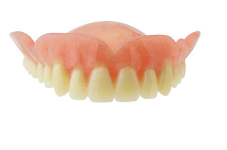 Denture  with clipping path on white background photo
