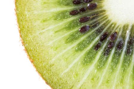 白い背景の上のキウイ フルーツ