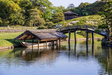okayama: Korakuen is the famous traditional Japanese landscape garden in Okayama Japan Stock Photo