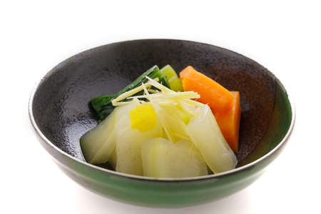 Boiled and seasoned white gourd-melon photo