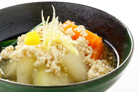 seasoned: Boiled and seasoned white gourd-melon