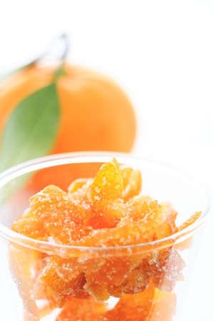 オレンジタンジェリン succade のガラス