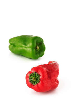 pimento: green pepper, pimiento, pimento on white background