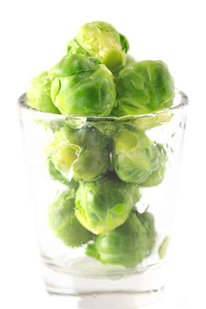 Brussels sprouts in the glass Stock Photo