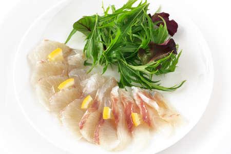 -スズキ - 白身魚のカルパッチョ