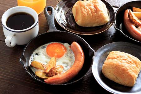 カップルのための朝食 写真素材