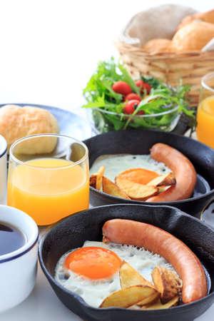 sunnyside: Breakfast for a couple Stock Photo