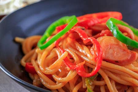 salsa de tomate: Espaguetis con salsa de tomate Foto de archivo