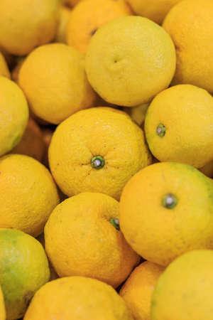 ゆず: ユズ和柑橘の一種であります。