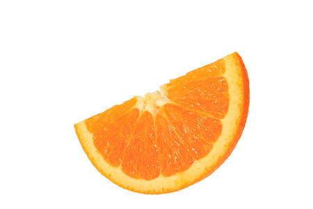 cut orange on the white background