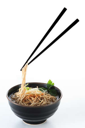 buckwheat noodle: buckwheat noodle with simple hot soup