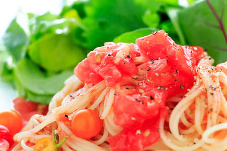 カッペリーニ冷製トマト ソース