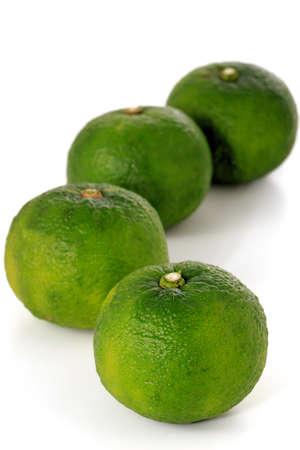 asian flavors: Yuzu: Citrus junos is a kind of Japanese citrus Stock Photo