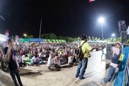 af: Ranong, Tayland - 3 Aralık 2013 Demokrasi Anıtı Af tasarısı ve hükümet karşıtı protestoculara karşı protesto