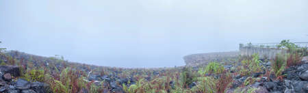 Foggy dams panorama at early morning  Ranong Thailand photo